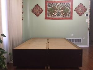 Queen storage bed for sale (large storage capacity)