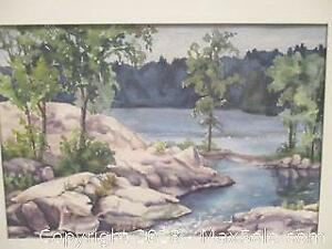 Original Vintage Signed Watercolour Painting. Group Of Seven Style, Canadian School.