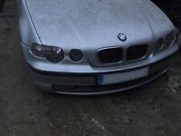 bmw E46 COMPACT 320 318 320TD BONNET IN Silver Breaking for parts