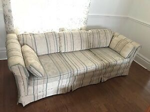 Comfortable COUCH with solid wood frame for sale!