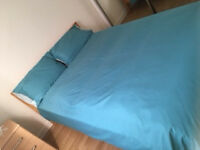 Double bed with matress & bedside table