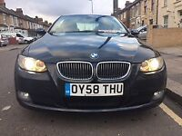 2008 (58) BLACK BMW 325i SE= COUPE***SATNAV-REVERSE CAMERA***HPI CLEAR***MINT & EXCELLENT DRIVE