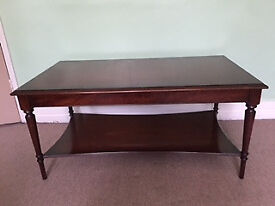 Coffee Table with Lower Shelf (Bradley Furniture)