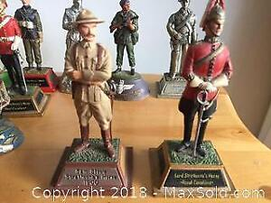 Hand Painted Pewter Figurines A