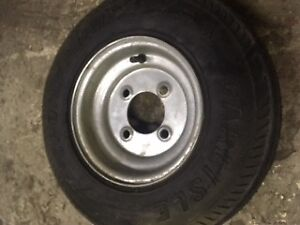 set of 5 air filled utility tires