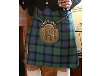 KILTS (NEW) ,Gents full 8yrd 100% pure New wool 16oz Heavy weight Kilts
