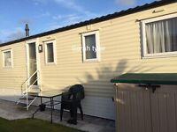 3 bed family luxury caravan for hire Treccobay Porthcawl