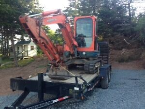 2006 Kubota Super Series KX121-3 Mini Excavator with New Trailer