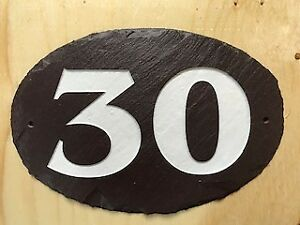 "SLATE HOUSE SIGN ""30"" BRAND NEW 9x6 inches"