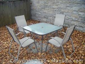 Patio Table And 4 Chairs A