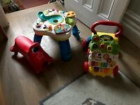 Bundle of used pre-walker toys all in working condition