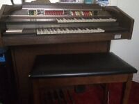 Strath more organs of Forfar Thomas playmate organ with stool