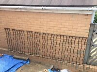 10 x Metal decking railing panels / fencing infill rails