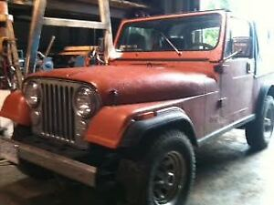 1984 Jeep CJ Coupe (2 door)