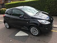 Ford K a 1.2 z tech 2011 black 47,000 miles new MOT