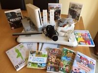 Nintendo Wii Console Bundle with Balance/Fit Board & 9 Games