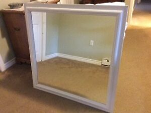 White-framed Mirror