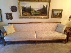 Sofa with Solid Wood Armrests