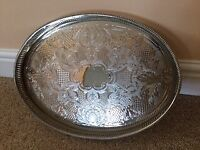 SILVER SERVING/COCKTAIL TRAY - IDEAL FOR CHRISTMAS