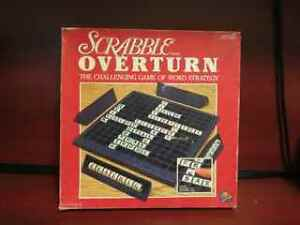 scrabble Overturn Game Complete used