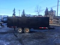 Trailer-Tandem axle, Steel sides, Rear doors. several choices