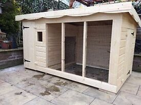 Brand new extra large heavy duty dog kennel and run RRP £900