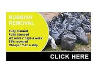 """rubbish removals """" cheaper than a skip """" man with a van""""clearance / waste disposal / collection /"""