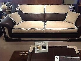 ***Worth £2500*** 2 x 3 Seater Premium Sofas with Foam-Filled Seat Cushions