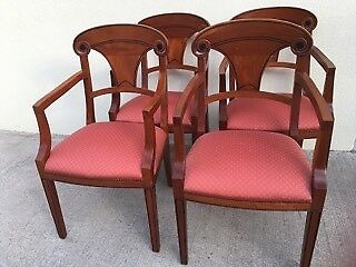 Dining Chairs/Arm Chairs/Occasional Chairs(4)-in mahogany, in vgc