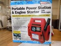 Portable power station & engine starter