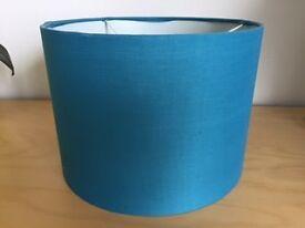 Teal blue lamp shade