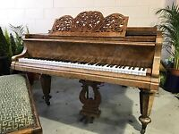 MEDIUM GRAND PIANO & STOOL FOR SALE ***COLLECTION ONLY***