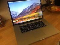 """17"""" Macbook pro i7, 8gb, 256gb SSD"""
