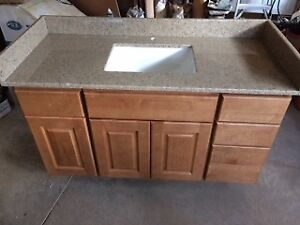 Solid Maple Cabinet and Granite Top