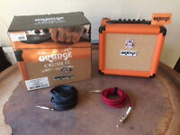 BRAND NEW: Orange CRUSH 12 Guitar amp + 2 new leads