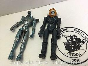 2 Marvel Action Figures Ghost Rider and Ultron
