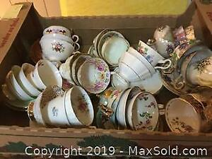 Collection Of Cups And Saucers A