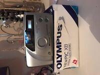 BOXED OLYMPUS NEWPIC XB APS FILM CAMERA WITH 24MM LENS~BUILT IN FLASH (52JY13)