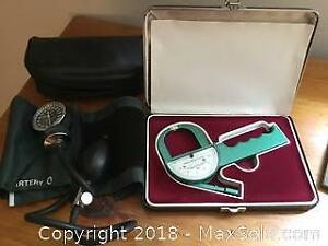 Lange Skinfold Caliper and Tyco's Blood Pressure Monitor Kit A