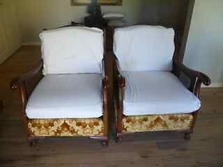 """Armchairs """"Bergere style"""" in good condition St Ives Chase Ku-ring-gai Area Preview"""