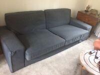 Ikea Kivik 3 seat sofa with new dark blue covers