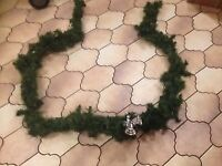 Christmas Garland with Silver Bells
