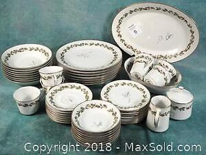 Large Vintage Noritake Glenleaf Dinner set with serving pieces