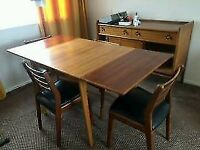 Retro teak table and chairs