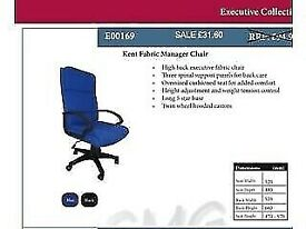 Manager office chair fabric blue