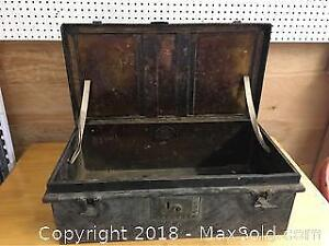 Antique British Military Metal Clothesbin