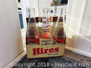 Vintage Hires Root Beer 6 Pack Pop Bottles