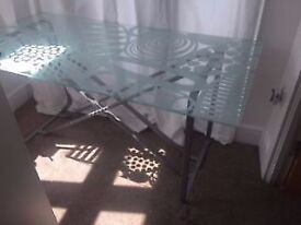 Glass Top Tempered Glass Top Dining / Office Table