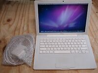 Macbook white Apple mac laptop Intel 2ghz Core 2 duo processor