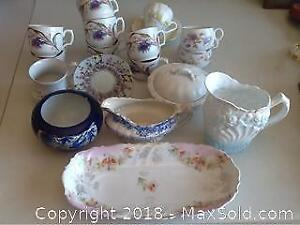 Antique Fine China And Some Ironstone
